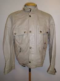 vintage belstaff cougar leather motorcycle biker jacket l 42 euro 52 beige 1 of 12only 1 available