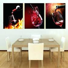 wine metal wall art 3 piece modern kitchen canvas paintings red wine cup bottle wall art