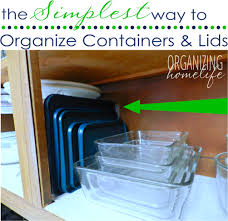 the simplest way to organize containers and lids