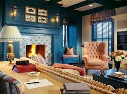 Orange Chairs Living Room Dazzling Blue Living Room Color Ideas With Fireplace Furnished