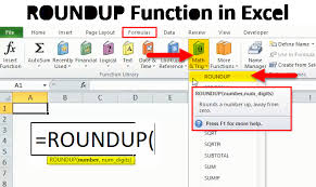 Excel Round Formulas Roundup In Excel Formula Examples Uses Of Roundup Function