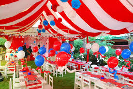 indoor garden party decorations ideas. decorations : fabulous garden kids party decor ideas with red white colorful fabric canopy and ballon added modern wood table seatting sets indoor