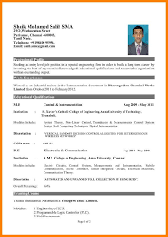Good Format For Resume Awesome 28 A Good Cv Format For Freshers Valuefilmsnet