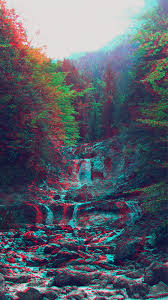 anaglyph mountain green nature art iphone 7 wallpaper iphone 8
