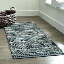 cotton runner rugs rag fancy rug best of pinstripe jade green woven