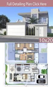 Design With Home Design Plan 10x20 Meters Modern House Plans Home