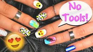 No tools needed! 6 easy nail art designs for beginners ♡ - YouTube
