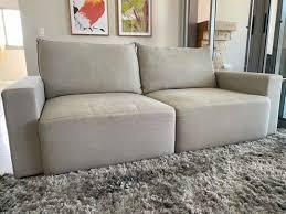 sofa feijao cru tok stok mercadolivre