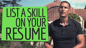 When Should I List A Skill On My Resume Simple Programmer