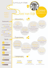 An Infographic Of My Resume Creative Curriculum Vitae Industrial