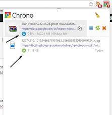 Chrono download history