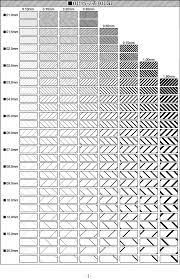 Illustrator専用パターンスウォッチ素材集ハッチングドット製図
