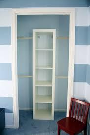 diy closet organizer put it a book shelf and add tension cutain rods