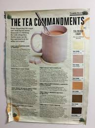 Office Tea Chart Tea Commandments Sonntagimpark