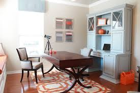 orange home office. Inspiration For A Small Contemporary Freestanding Desk Dark Wood Floor Study Room Remodel In Dallas With Orange Home Office