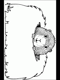 Small Picture Groundhog Coloring Page jacbme