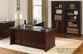 huntington club cherry series cherry l desk with right return
