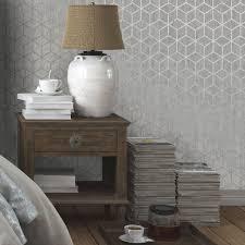 Statement Silver Effect Rochester Metallic Effect Wallpaper | Departments |  DIY at B&Q