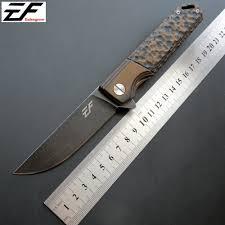<b>Eafengrow</b> EF70 58 60HRC D2 Blade G10 Handle Folding knife ...