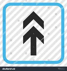 vector square blue icon lighting bulb. arrow up blue and gray vector icon image style is a flat pictogram symbol inside square lighting bulb u