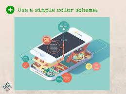 Simple Info Graphics Use A Simple Color Scheme