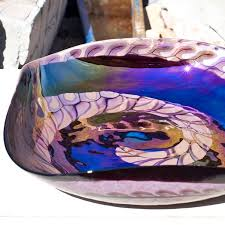 handcrafted 4 fused glass decorative bowl in purple gift ideas 2018
