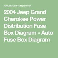 its more complicated than just a fuse, here is the complete 2004 Jeep Grand Cherokee Fuse Box 2004 jeep grand cherokee power distribution fuse box diagram auto fuse box diagram 2004 jeep grand cherokee fuse box diagram
