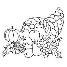 Free Cornucopia Coloring Pages Free Coloring Library