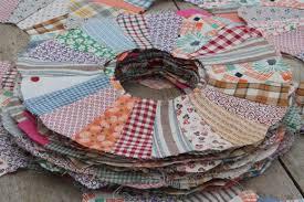 vintage quilt top blocks, dresden plate pattern quilt block, old ... & vintage quilt top blocks, dresden plate pattern quilt block, old 40's 50's  cotton print fabric Adamdwight.com