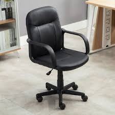 modern office chair. new modern office executive chair pu leather computer desk task hydraulic black