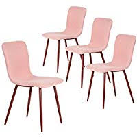 coavas dining chairs set of 4 fabric cushion kitchen table chairs with sy metal legs for