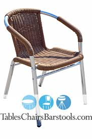 outdoor restaurant chairs. Mojave Commercial Outdoor Aluminum/Tan Resin Wicker Chair Restaurant Chairs D