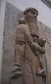 epic of gilgamesh  ancient assyrian statue currently in the louvre believed by some scholars to represent enkidu a major character of the epic of gilgamesh
