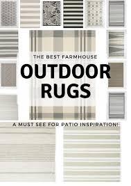 20 gorgeous farmhouse outdoor rugs