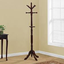 Cherry Coat Rack New Amazon Monarch Specialties Traditional Solid Wood Coat Rack