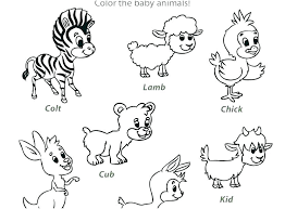 Farm Animal Worksheets For Preschoolers Coloring Animals Free Math ...
