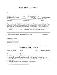 Sample Of Rent Increase Letter Free Rent Increase Letter Template With Sample Pdf