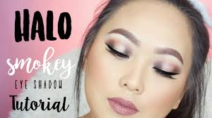 halo smokey eye shadow makeup tutorial on asian hooded eyes