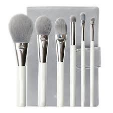 makeup brush brush sets count 6 bristles material bamboo fiber brush pack type leather brush handle material wooden handle brush
