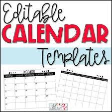Calendar Template Editable By The Teaching Q Teachers Pay