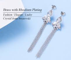 crystals from swarovski jewelry whole thread tel earrings