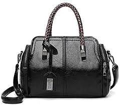 Ohyoulive <b>Women Retro PU Leather</b> Shoulder Bag <b>Lady</b> Large ...