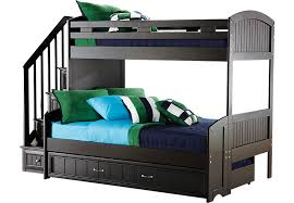 cartoon bunk bed. Cottage Colors Black Twin/Full Step Bunk Bed With Trundle Cartoon