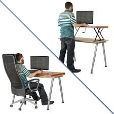 Standing Desk Extension Amazoncom Halter Manual Adjustable Height Table Top Sit Stand