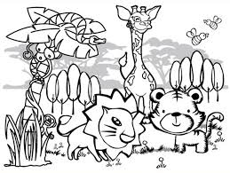 Small Picture Wonderful Design Ideas Printable Jungle Animal Coloring Pages Pdf