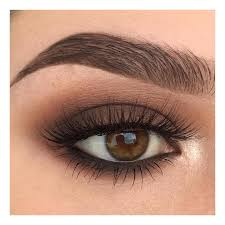 you can easily reach a simple yet stunning and very fashion forward look by matching the eye shadow to your eye color and applying a soft deep brown all