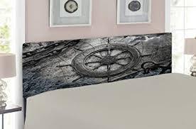 Amazon Com Ambesonne Ships Wheel Headboard Retro