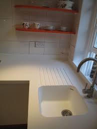 Seamless Corian Sink And Worktop With Routed Drainer Grooves Home