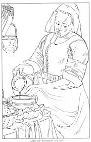 Small Picture La LaitiereJan Vermeer Famous paintings coloring pages Coloring
