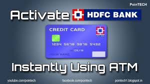 how to activate hdfc credit card and generate atm pin hdfc net banking credit card pointech